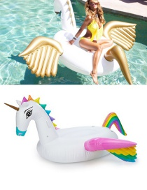 Lovely Multi-color Pegasus Shape Decorated Simple Inflation Deck Chair
