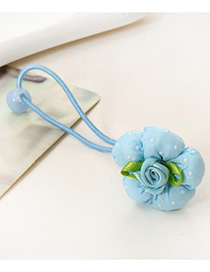 Lovely Blue Flower Shape Decorated Simple Baby Hair Band