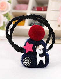 Fashion Navy Hat Shape Decorated Simple Double Layer Baby Hair Band