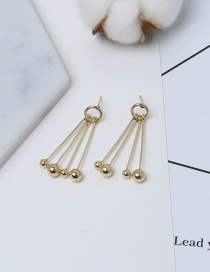 Trendy Gold Color Round Balls Pendant Decorated Pure Color Earrings