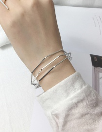 Elegant Silver Color Pure Color Decorated Irregular Shape Bracelet