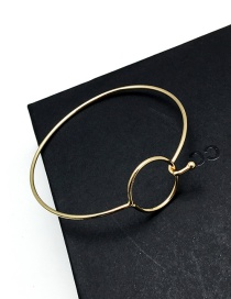 Elegant Gold Color Circular Ring Decorated Pure Color Simple Braclet