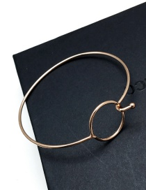 Elegant Rose Gold Circular Ring Decorated Pure Color Simple Braclet