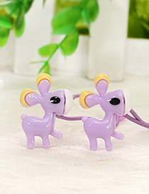 Cute Purple Donkey Shape Decorated Simple Baby Hair Band(1pair)