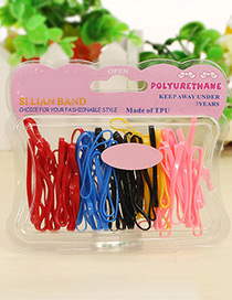 Cute Multi-color Color-matching Decorateds Simple Baby Hair Band (60pcs)