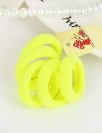 Cute Fluorescent Green Pure Color Decorated Simple Round Shape Hair Band (5pcs)