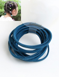 Cute Dark Green Pure Color Decorated Simple Round Hair Band (10pcs)
