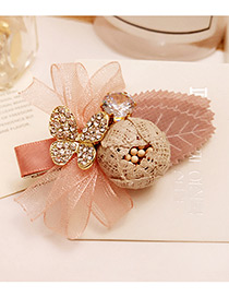 Elegant Multi-color Diamond Decorated Butterfly Shape Design Simple Hairpin