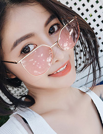 Fashion Pink Pure Color Decorated Simple Optical Glasses