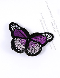 Lovely Purple Butterfly Decorated Simple Color Matching Hairpin