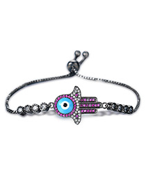 Personality Gun Black Palm Decorated Simple Bracelet