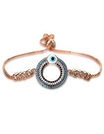 Personality Rose Gold Hollow Out Round Decorated Bracelet