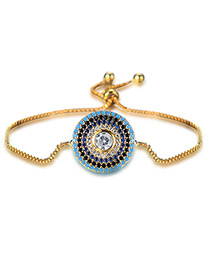 Personality Gold Color Round Shape Decorated Bracelet