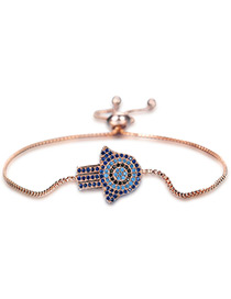 Personality Rose Gold Palm Shape Decorated Bracelet