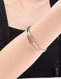 Fashion Silver Color Hollow Out Decorated Simple Bracelet
