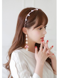 Elegant Pink Flower Decorated Hair Clasp