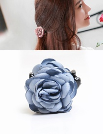 Elegant Light Blue Flower Decorated Hairpin