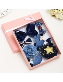 Lovely Navy Bowknot Shape Hair Band (10pcs)