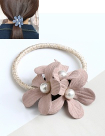 Fashion Pink Double Flower Decorated Hair Band