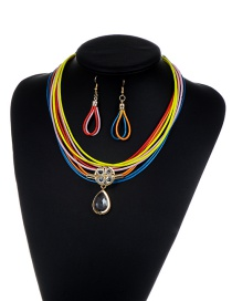 Luxury Multi-color Oval Shape Pendant Decorated Multilayer Jewelry Sets Reviews