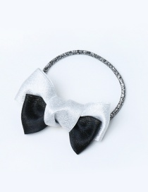 Lovely Black Bowknot Decorated Color Amtching Hair Band