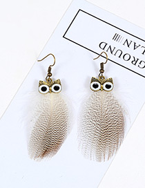 Vintage White Owl Shape Design Simple Earrings