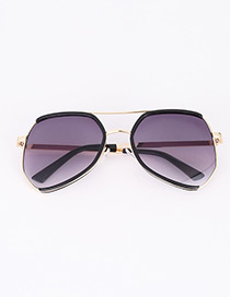 Fashion Black Color Matching Decorated Anti-ultraviolet Children Sunglasses