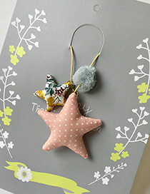 Fashion Pink Stars Pendant Decorated Simple Children Choker
