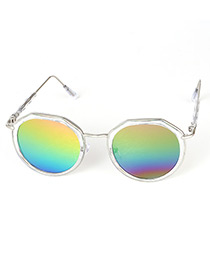 Lovely Multi-color Color Matching Decorated Anti-ultraviolet Children Sunglasses