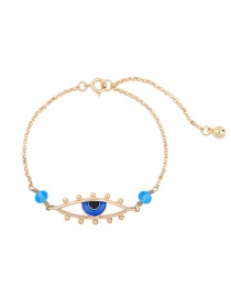 Fashion Gold Color Eye Decorated Color Matching Bracelet