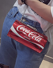 Fashion Red Cans Shape Decorated Simple Shoulder Bag