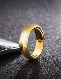 Fashion Gold Color Pure Color Decorated Simple Smooth Opening Ring