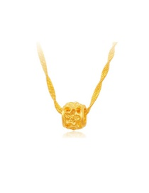 Fashion Gold Color Flower Decorated Hollow Out Simple Pendant ( Without Chain)