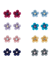 Fashion Multi-color Flower Decorated Color Matching Simple Earrings ((6 Pairs)) Reviews
