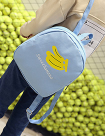 Lovely Blue Banana Shape Decorated Backpack