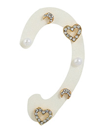 Fashion Multi-color Heart&moon Shape Decorated Color Matching Earrings