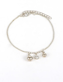 Fashion Silver Color Bells Decorated Pure Color Simple Anklet