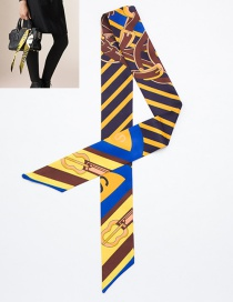 Fashion Yellow Guitar Pattern Decorated Simple Scarf