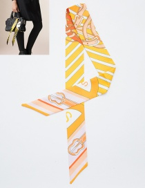 Fashion Light Yellow Guitar Pattern Decorated Simple Scarf