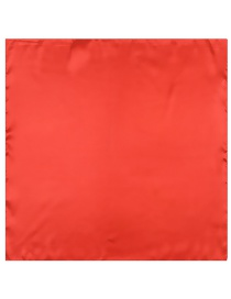Fashion Red Square Shape Decorated Pure Color Simple Scarf