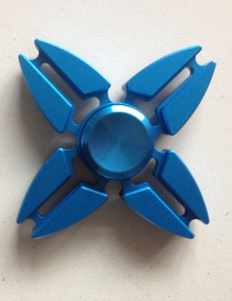 Fashion Blue Hollow Out Decorated Spinner