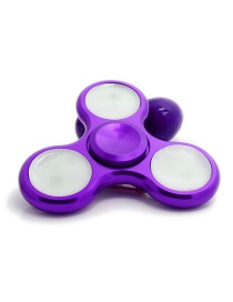 Fashion Purple Color-matching Decorated Spinner(with Light)