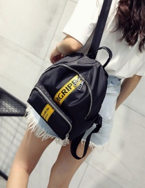 Fashion Yellow Letter Pattern Decorated Pure Color Backpack