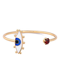 Fashion Gold Color Eye Decorated Color Matching Simple Bracelet