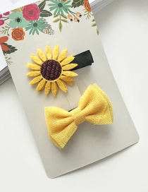 Lovely Yellow Sunflower Decorated Pure Color Hairpin