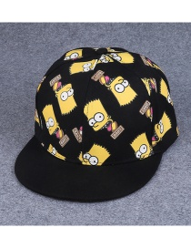 Fashion Black Cartoon Minions Decorated Simple Hip-hop Cap