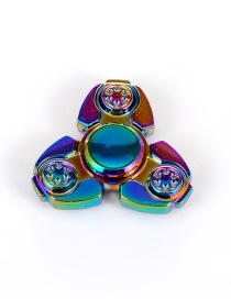 Trendy Multi-color Bat Shape Decorated Simple Spinner