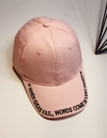 Fashion Pink Embroidery Letter Decorated Baseball Cap