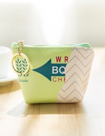 Lovely Green Chewing Gum Pattern Decorated Wallet
