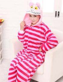 Fashion Pink Cat Shape Decorated Simple Nightgown